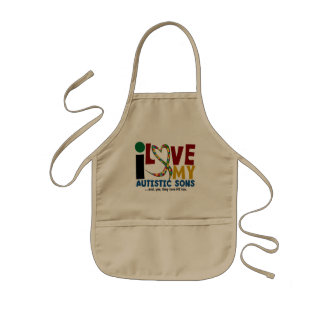 I Love My Autistic Sons 2 AUTISM AWARENESS Aprons