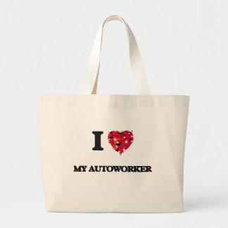 I Love My Autoworker Jumbo Tote Bag