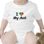 I Love My Avo (Grandmother) Baby Bodysuit