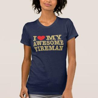 I Love My Awesome Fireman Shirts