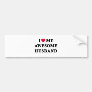 I love my awesome husband bumper sticker