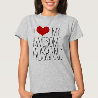 I Love My Awesome Husband, His/Her Valentine's Day Tee Shirt