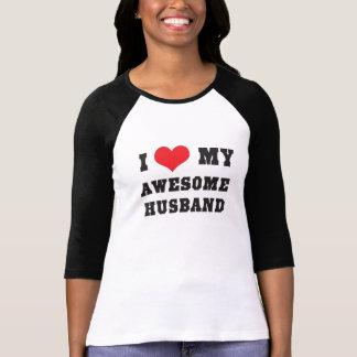 I Love My Awesome Husband Shirts