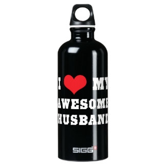 I Love My Awesome Husband Water Bottle