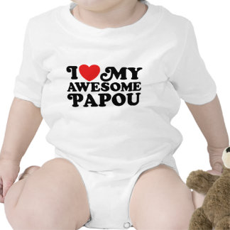 I Love My Awesome Papou Baby Creeper