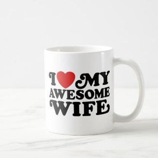 I Love My Awesome Wife Classic White Coffee Mug