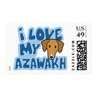 I Love My Azawakh Stamps