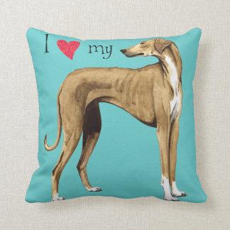 I Love my Azawakh Throw Pillow