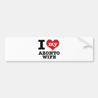 I love my azonto Boyfriend Bumper Sticker