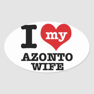 I love my azonto Boyfriend Oval Sticker