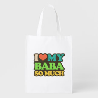 I Love My Baba So Much Reusable Grocery Bag