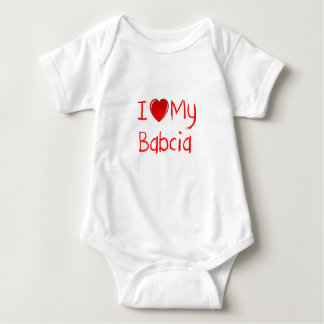 I Love My Babcia Infant and Toddler T-Shirt