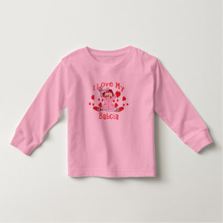 I love My Babcia Rag Doll & Hearts Toddler T-shirt