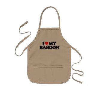 I LOVE MY BABOON KIDS' APRON