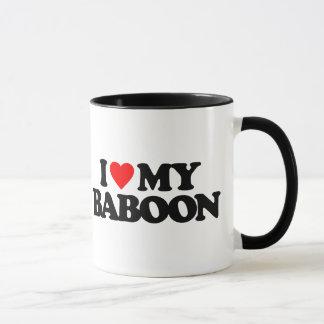 I LOVE MY BABOON MUG