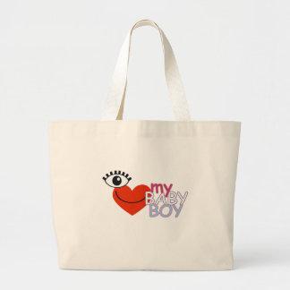 I love My Baby Boy - Eye Luv Heart Jumbo Tote Bag