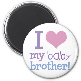 I Love My Baby Brother 2 Inch Round Magnet
