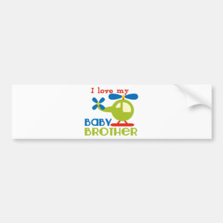I love my baby brother bumper sticker
