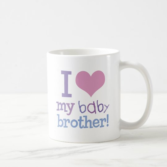 I Love My Baby Brother Coffee Mug
