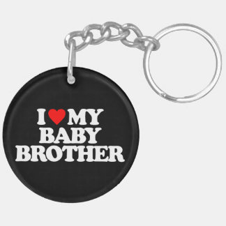 I LOVE MY BABY BROTHER Double-Sided ROUND ACRYLIC KEYCHAIN