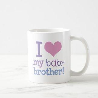 I Love My Baby Brother Coffee Mugs