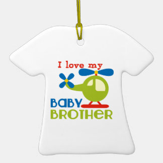 I love my baby brother Double-Sided T-Shirt ceramic christmas ornament