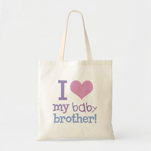 I Love My Baby Brother Tote Bag