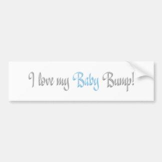 i love my baby bump -blue car bumper sticker