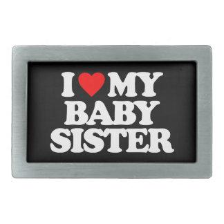 I LOVE MY BABY SISTER RECTANGULAR BELT BUCKLE