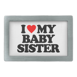 I LOVE MY BABY SISTER BELT BUCKLES