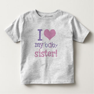 I Love My Baby Sister Kids T-Shirts & Gifts