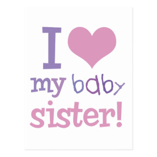 I Love My Baby Sister Kids T-Shirts & Gifts Postcard