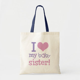 I Love My Baby Sister Kids T-Shirts & Gifts Tote Bag