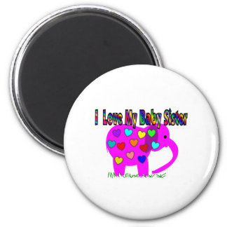 I Love My Baby Sister 2 Inch Round Magnet