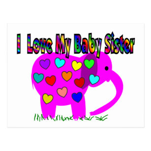 I Love My Baby Sister Postcards Zazzle