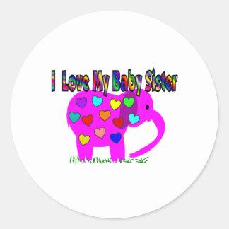 I Love My Baby Sister Classic Round Sticker