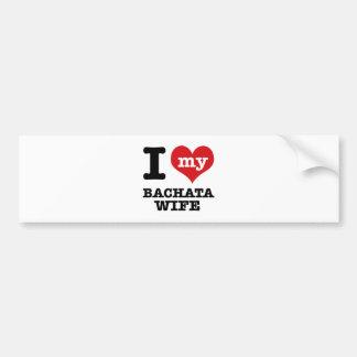 I love my bachata Boyfriend Bumper Sticker