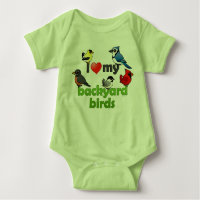 I Love My Backyard Birds Baby Jersey Bodysuit