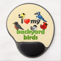 I Love My Backyard Birds Gel Mousepad