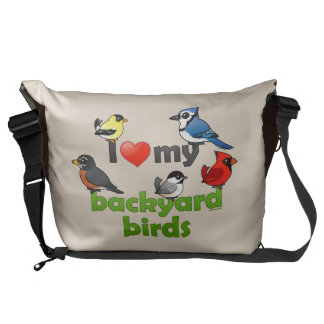 I Love My Backyard Birds Messenger Bag