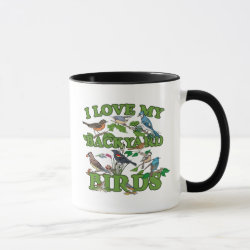 I Love My Backyard Birds Combo Mug