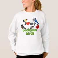 I Love My Backyard Birds Girls' Hanes ComfortBlend® Sweatshirt