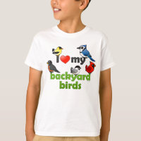 I Love My Backyard Birds Kids' Hanes TAGLESS® T-Shirt