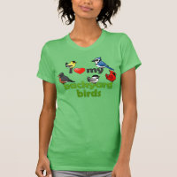 I Love My Backyard Birds Women's American Apparel Fine Jersey Short Sleeve T-Shirt