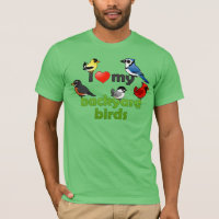 I Love My Backyard Birds Men's Basic American Apparel T-Shirt