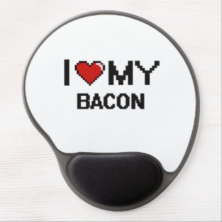 I Love My Bacon Digital design Gel Mouse Pad
