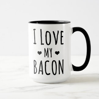 I Love My Bacon Mug