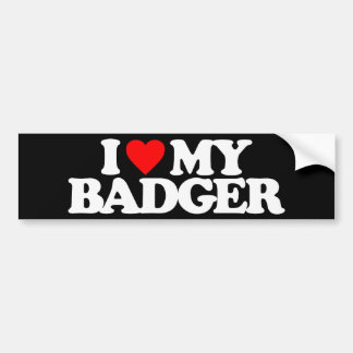 I LOVE MY BADGER BUMPER STICKERS