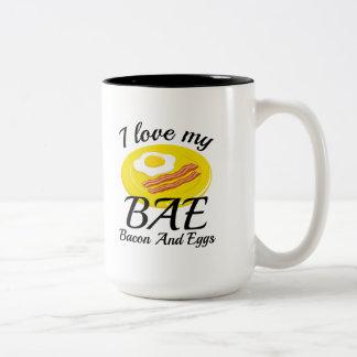 I Love My BAE Two-Tone Coffee Mug