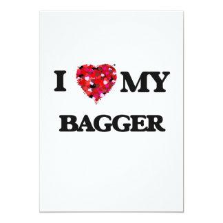 I love my Bagger 5x7 Paper Invitation Card